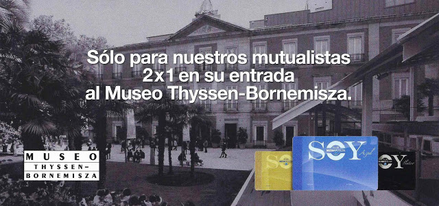 Delantera pieza promocional Mutua Madrileña Museo Thyssen-Bornemisa