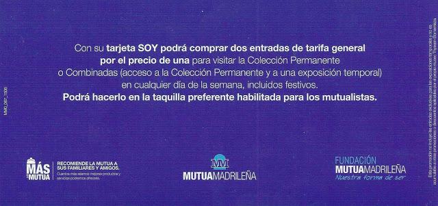 Trasera pieza promocional Mutua Madrileña Museo Thyssen-Bornemisza