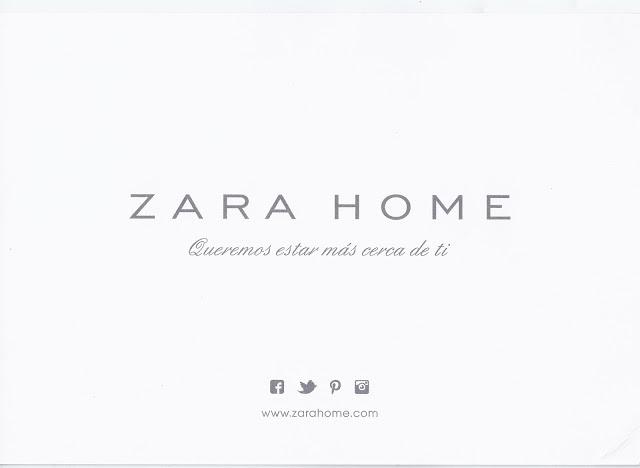 Tarjetón Zara Home: Queremos estar más cerca de ti
