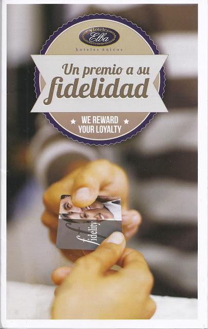 UN PREMIO A SU FIDELIDAD - Tarjeta cliente de Elba Hoteles