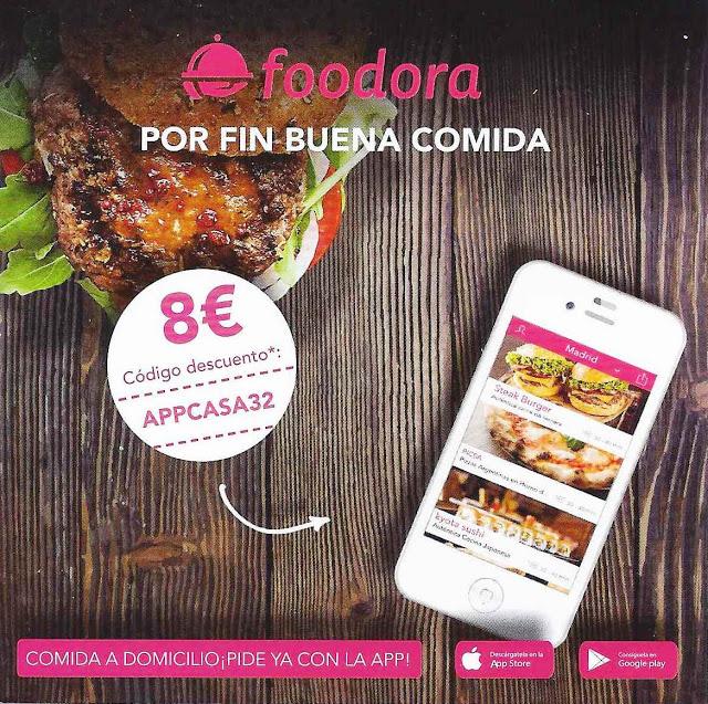 Delantera folleto Foodora comida a domicilio
