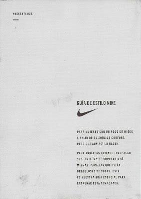 Trasera Postal Guía de Estilo Nike